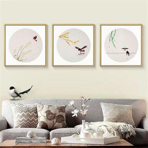 几款简约客厅胜博发唯一官网画,才能美了整个客厅空间,前两款太赞了
