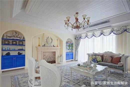 130㎡三居室装修,在家也能感受到大海的味道,亮点在于纯美色彩